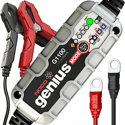 Motorcycle Noco Genius G1100 12V Smart Battery Charger-lithium-ion supported