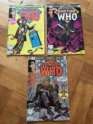Dr Who 57,59,60 First Appearance Marvel 1980 Fine