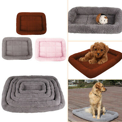Pet Bed Cushion Mat Pad Dog Cat Cage Kennel Crate Warm Cozy Soft House UK