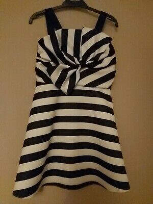 Gorgeous Girls Black White Party Dress River Island Aged 8 VGC