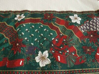 Christmas Table Cloth Extra Large 84 X 62 Inches Approx.