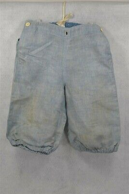 knee pants boy knickers cotton blue Victorian Edwardian waist 22 in antique 1890