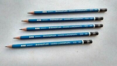 Staedtler Mars Lumograph  S-100 3B Vintage Pencils (pack of 5)