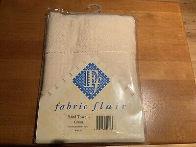 Cross Stitch Hand Towel Cream By Fabric Flair Band is 16 Count