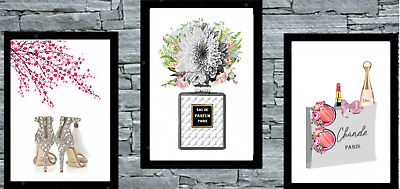 Set of 3 Choo & Coco Wall Art Prints A4 Dressing Room Bedroom Poster