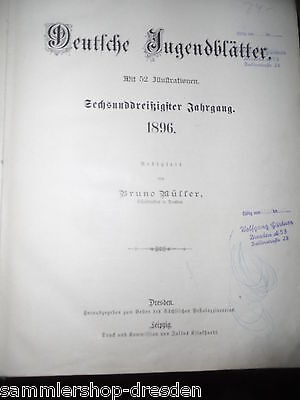 15079 Petermann Deutsche Jugendblätter 1896 mit 52 Illustrationen Leinen