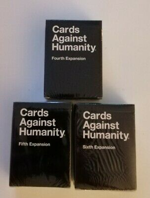 Cards Against Humanity expansion Packs  4th, 5th& 6th. All sealed and genuine.