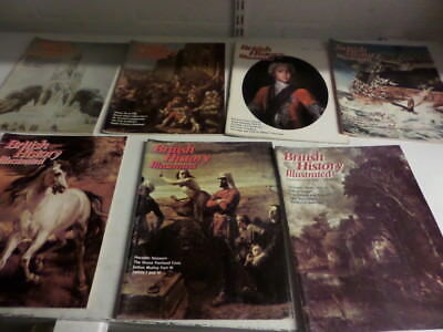 BRITISH HISTORY ILLUSTRATED MAGAZINES AUG/SEP 1976 - SEPT 1977 - 7 issues   (D)