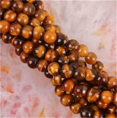 8mm Natural African Roar Tiger's Eye Round Loose Beads 15''