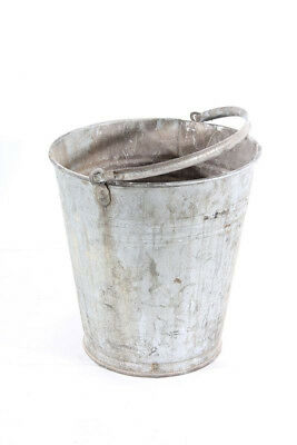 Old Zinc Trash Can Art Deco Bucket Zinc Henkel Old Vintage