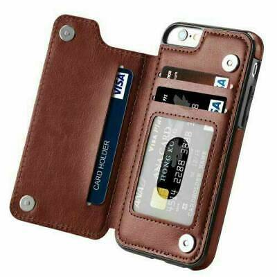 Leather Flip Wallet Card Holder Case Cover For iPhone 11 Pro Max X XS XR 8 Plus