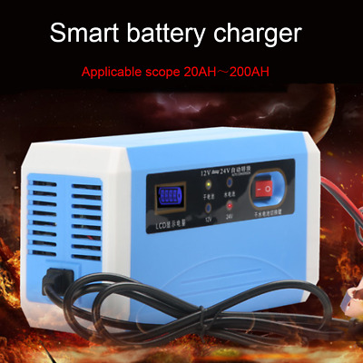 Intelligent 12v24v Car And Motorcycle Battery Charger Pulse Repair Battery Charg