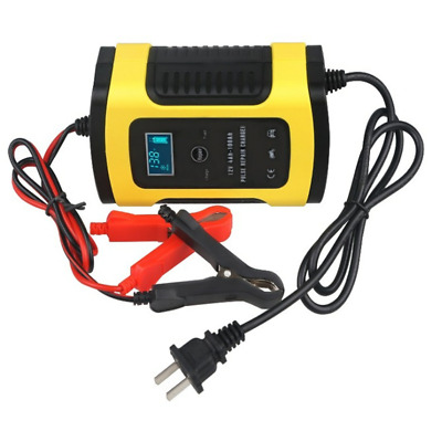 Car Battery Charger 12v6a Motorcycle Intelligent Universal Lead Acid Storage