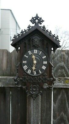 german black forest carved early wooden works cuckoo clock  restoration