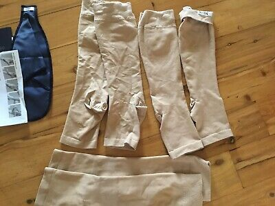 3 X Sigvaris AD M Normal Calf Open Toes Commpression Stockings. Good Used Cond