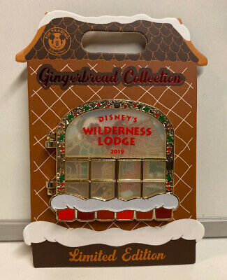 2019 WDW Disney World Gingerbread Collection Wilderness Lodge LE Pin #2000