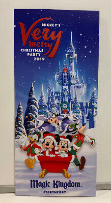 2019 Mickey's Very Merry Christmas Party Park Map / Brochure