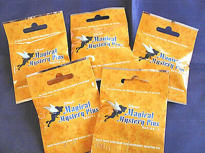 Disney * MAGICAL MYSTERY PINS - SERIES #14 * 5 PACKS * NEW Mystery Pack Pins