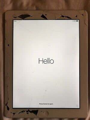 APPLE iPAD 4TH GENERATION 16GB, Wi-Fi, 9.7in  WHITE / SILVER FULLY WORKING A1458