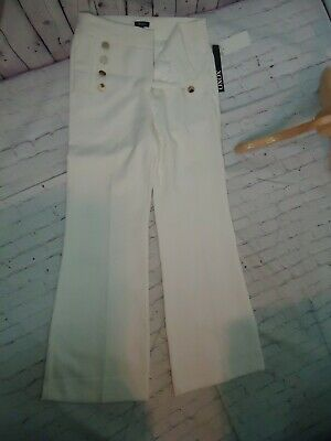 XOXO Women's Wide Leg Sailor Pants Trousers White Size 7 / 8