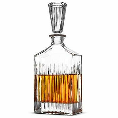 Whiskey Carafe Lead Free Decanter Liquor Crystal Scotch Vintage Stopper 23 Oz.
