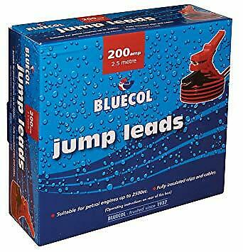 Bluecol A92874 BBC030 2.5 Meters 20mm Booster Cables Start Jump Leads Boxed