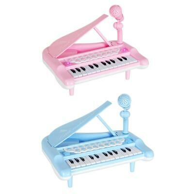Kids Mini Instrument Simulation Electronic Piano with Microphone Puzzle Toy UK