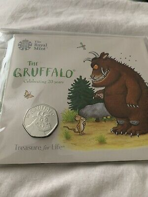 Gruffalo 50p and the Mouse Official Royal Mint New 2019 BU Fifty Pence Coin