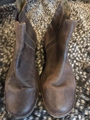 Fly Designer Ladies Soft Brown Leather Stunning Ankle Boots Size UK 7