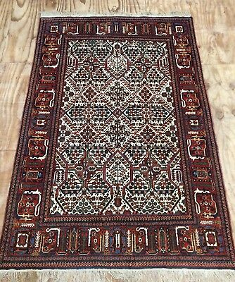 Antique Fine Middle Eastern Maimeh Joshaghan Handwoven All Over Design Rug