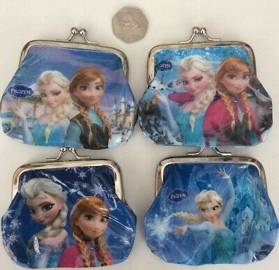 Kids Frozen Anna & Elsa Purses Party Bag Gifts Stocking Fillers X4 Girls Purses