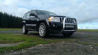 2007 Jeep Grand Cherokee Overland 3.0 CDR Auto Black 107500 miles