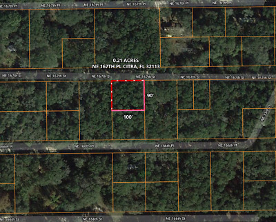 0.21 Acre Lot in Citra Florida only 25 minutes from Downtown Ocala!