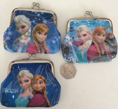 Kids Frozen Anna & Elsa Purses Party Bag Gifts Stocking Fillers X 3 Girls Purses