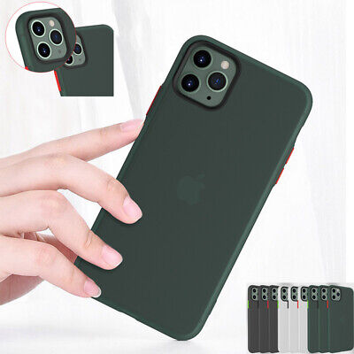 For iPhone 11 Pro Max Xs XR X 7 8 Skin Feel Matte Bumper Hybrid Soft Case Cover