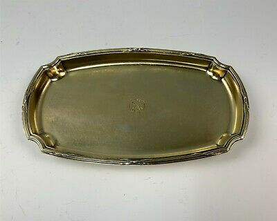 Antique French Sterling Silver Small Tray by Noted Maker, Gustav Keller Vermeil