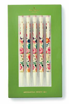 Kate Spade New York Mechanical Pencil Set of 5 Floral 0.7 mm lead New in Box FS!