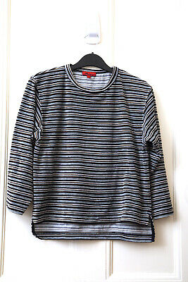 Vintage Childs Striped Velvet Top Monsoon Size 8 - 10 Years