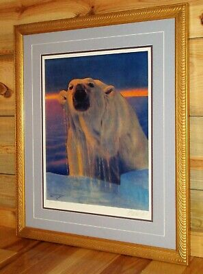 """""""UP IN THE ARCTIC"""" by Fred Machetanz: Original Signed Limited Edition Framed"""