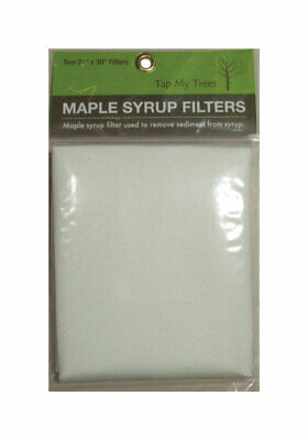 Tap My Trees  Maple Sugaring Syrup Filter Sheet  2 pk