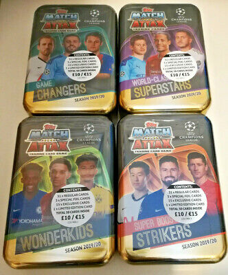Topps Match Attax Season 2019/20 Trading Card Mega Tin Uefa Champions League
