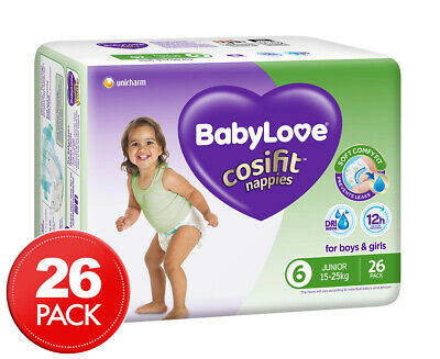 BabyLove Cosifit Junior Size 6 15-25kg Nappies 26pk