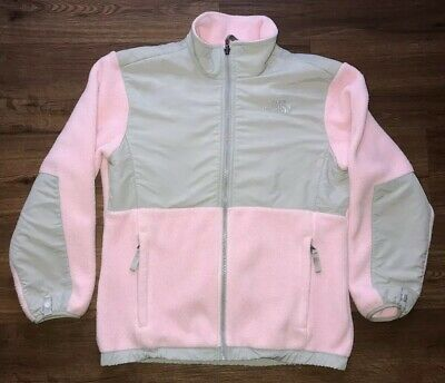 The North Face Polartec Pink Grey Fleece Sweater Sz Large Girls Fast Shipping