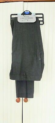 New with tags. 2 x TU girl's grey school uniform trousers. Plus fit age 11