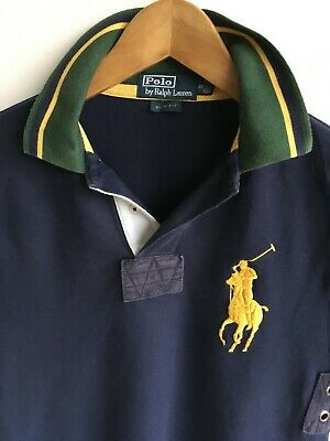 Ralph Lauren Polo Mens Xs Small 34-36 Short Sleeved Blue Polo Rugby Shirt