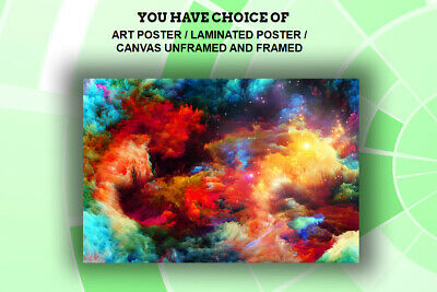 Sky VERY COLORFUL,ART PRINT,POSTER,CANVAS UNFRAMED and FRAMED
