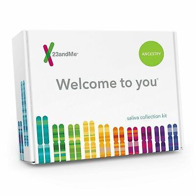 23andMe Personal Genetic Ancestry DNA Kit Saliva Collection Kit, NEW/Sealed 5/21