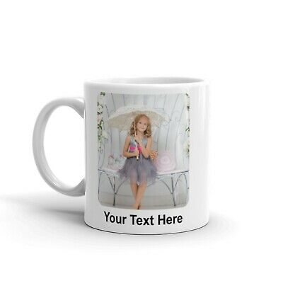 Personalised Mug Any Photo Image or Logo Add Text Mother Father Gift Cup