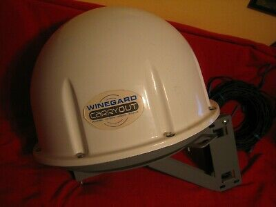 """""""WINEGARD CARRYOUT"""" SATELLITE TV antenna & cables"""