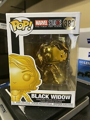 Funko POP! Marvel Studios The First Ten Years Black Widow Gold Chrome #380